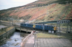 Woodhead 76013 and 76022 with BR crest westbound light engines April 80