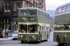 2-FLG 47F with the 128 Bus on Trinity Street Stalybridge late 60's