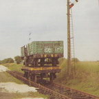 A shot of two wagons which had come from Chesterfield Cylinders, seen here at Ludborough on the Lincs Wolds Railway