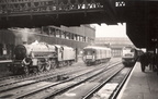 23.04.66 Manchester Victoria 44949, parcels car M55987, D1854 on empty stock for evening train to Glasgow