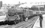 Manchester Victoria in June 1959 with 5F 45068 of Accrington shed