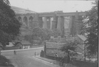 An early picture showing Dinting viaduct , probably from the 1920's.