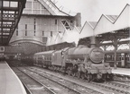 'Jubilee' Class 4-6-0 No. 45705 Seahorse  waits to depart from Manchester Central with the 17.22 train to Buxton on June 29th 1965