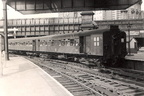 Manchester Victoria. LYR electric train leaving for Bury 25.07.59.