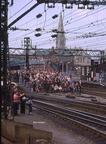 Waiting for Sir Nigel at Guide Bridge 29.4.1978.
