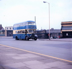 Crowhill-Hazelhurst service,having just left the bus station,circa late 60s