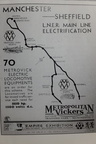 Metropolitan Vickers advertisement produced for the Empire Exhibition Glasgow 1938. This shows the LNERs original intention to electrify the Fallowfield loop into Central station