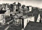 Lancaster Castle from a guests room at the Royal Kings Arms.1970s