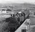 82000 at Llandanwg Halt on a local service to Pwllheli in 1959