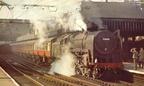 Britannia at Sheffield Victoria with a Harwich Boat Train