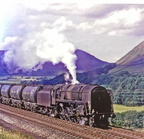 92212 hauling soda ash tanks through the Lune Gorge 1967