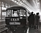 A six car Trans-Pennine d.m.u. set  Class 124..first day of operations 1960's at Manchester Exchange 1960's.