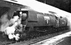 Bulleid 4-6-2 34051 'Winston Churchill' at Salisbury.1965