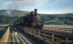 One day short of 60 years ago, GWR Dukedog No. 9013 crosses Barmouth bridge on the evening of 22 July 1958. The bridge and line celebrate their 150th anniversary on 10th October this year.
