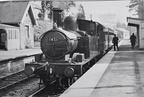 Clean 14XX No. 1451 at Bampton , between Tiverton and Dulverton in 1960