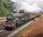 6021 King Edward 11 on a Birkenhead - Paddington Express between Olton and Solihull in 1962 copy