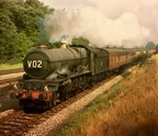 6021 King Edward 11 on a Birkenhead - Paddington Express between Olton and Solihull in 1962