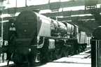 Ex-LMS 'Patriot' 6P 4-6-0 No. 45518 'Bradshaw' in store, pending withdrawal, in the shell of the former locoshed at Preston on 16th June 1962.