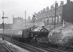 6011 King James I approaching Handsworth and Smethwick station in 1956.