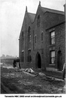 The original Old Hall Day School held in the Sunday School rooms of the old Congregational Church, Astley Street, Dukinfield next to the railway bridge, Closed 1905 as a day school. The church was demolished in 1932