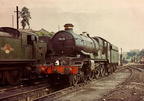 7025 Sudeley Castle on shed at Worcester in 1964