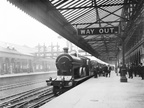 The Lancashire & Yorkshire Railway's 2.45 pm express train from Manchester to Blackpool  at Bolton station, 21st August 1907.