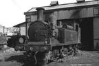 Isle of Wight O2 0-4-4T No.35  Freshwater  on Ryde shed in 1965. Photo by Les Pitcher