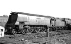 34075  264 Squadron await disposal at R.S. Hayes-Birds scrapyard, Bridgend. Both had been scrapped by January 1966. This scrapyard disposed of 345 BR Locos. Photos by Les Pitcher
