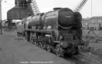 Rebuilt West Country 4-6-2 34100 Appledore  on Nine Elms shed in the mid 1960s. Photos by Les Pitcher.
