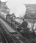6008 King James II on the up Cornish Riviera Express at Marsh Mills in 1956.