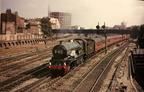 6023 King Edward II leaving Paddington on a train for Fishguard in 1960.