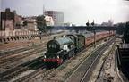6023 King Edward II leaving Paddington on a train for Fishguard in 1960.colour corrected