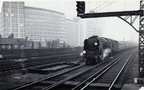 The down  Royal Wessex  getting into its stride through Vauxhall on a dull winters afternoon.