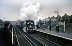 34051 Winston Churchill at Whitton in January 1965 with the Funeral Train.