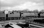 34083  605 Squadron  at   R.S.Hayes-Birds Tremains Yard, Bridgend scrapyard in 1965.