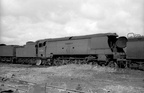 34083  605 Squadron  in the R.S. Hayes scrapyard at Bridgend in 1965. Photo by