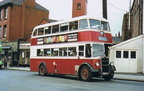 A Stockport corporation number 30 (later the 330) bus,on Wellington Rd,1960s,showing the Alexandra billiard hall and Woods coaches on the left and the side of the old Ritz-Queens cinema (now the Ash Tree,Wetherspoons) on the right