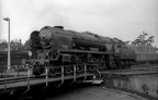 34098  Templecombe  works onto the turntable at Bournemouth shed in the mid 1960s