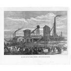Astley Deep Pit Colliery - Explosion Scene - Print 1874