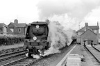 West Country 34107 'Blandford Forum'. The 83D shed plate dates the picture within the range 9-63