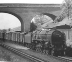 92234 on Rowington Troughs with a freight for Washwood Heath in 1965.