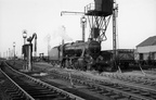 Stanier 8F 2-8-0 48373 on the ash-pit on its' way onto Wellingborough shed in 1963.