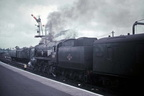 Merchant Navy 35001 'Channel Packet' at Salisbury in 1963.