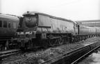 West Country 4-6-2 34015  Exmouth  on Guildford shed in the mid 1960s
