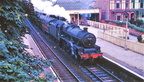 'Jubilee' 45584 North West Frontier pauses at St Anns on Sea in 1964