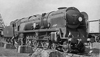 35027 Port Line at Nine Elms Shed in 1958