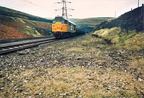 The last train at Woodhead was for track recovery in 1985