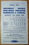 1959 Handbill. Nottingham & Leicester to Guide Bridge, Manchester, Liverpool....