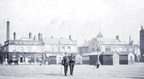 HYDE - View across the market place - with 2 policemen 1920's.