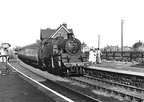 80117 on a  Scarborough bound train at Robin Hood's Bay Station circa 1950s